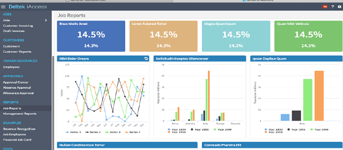 Maconomy iAccess native dashboards