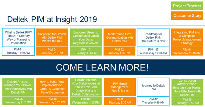 Deltek PIM at Insight 2019