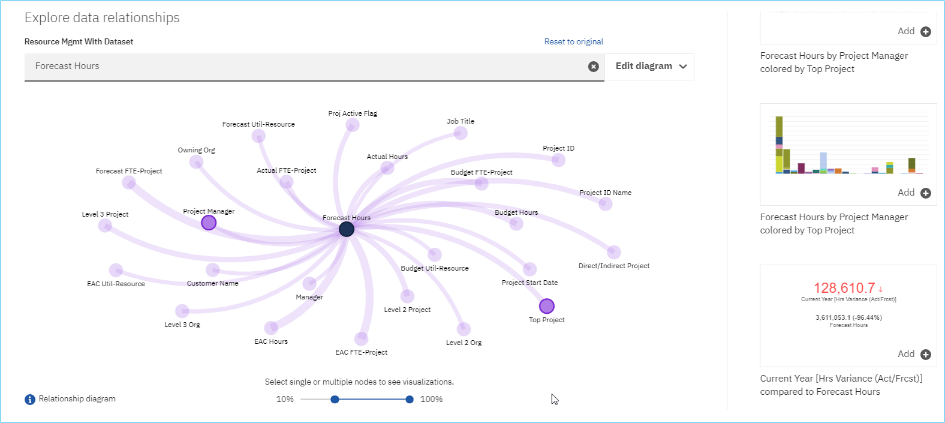 Costpoint 8 Business Intelligence Data Relationships Visualization
