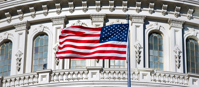 Image of American flag in government contractor blog