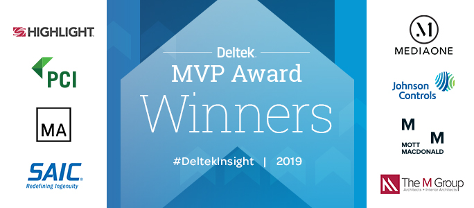 Deltek Insight 2019 MVP Award Winners