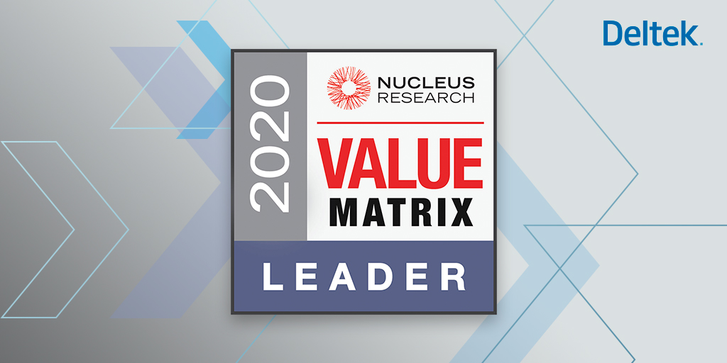 Deltek Named Leader in 2020 Nucleus  ERP Technology Matrix