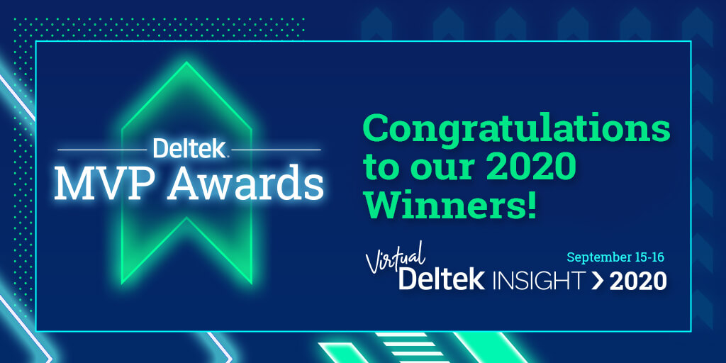Deltek Insight MVP Award Winners 2020