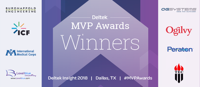 Deltek MVP Awards Winners and Finalists Insight 2018