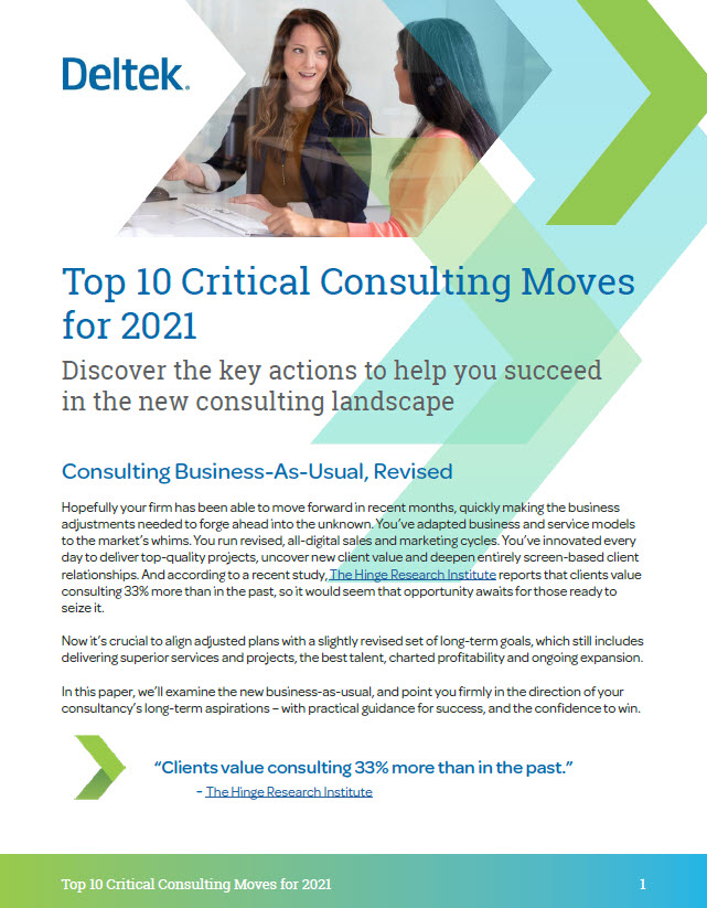 Top 10 Critical Consulting Moves White Paper Cover