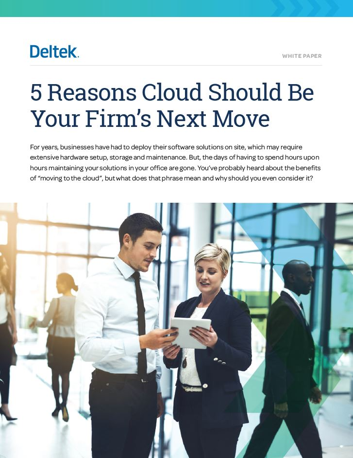 White paper - 5 reasons Cloud Should be Your Firm's Next Move
