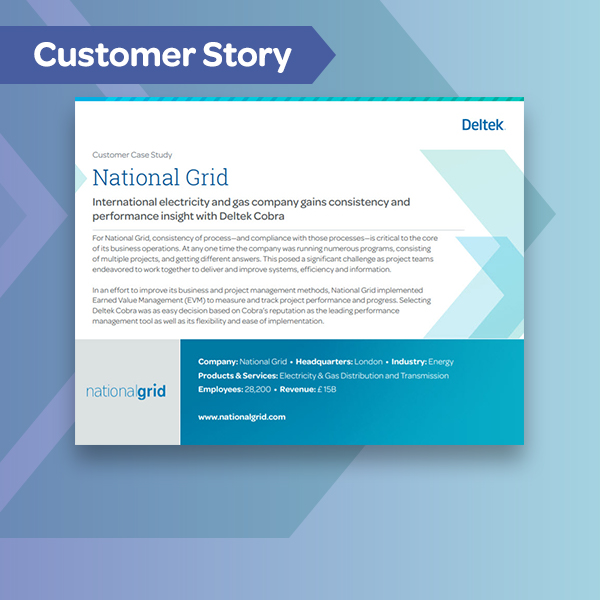 Cobra customer story - national grid