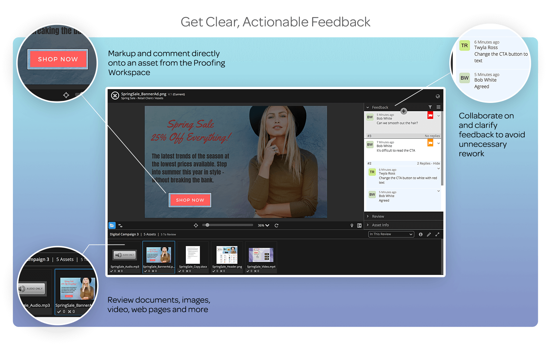 Get Clear Actionable Feedback